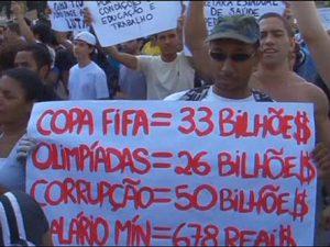 Protestas por el Mundial y la Olimpiada